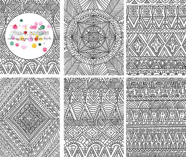 Tribal Designs 5 Coloring Pages Alisa Burke