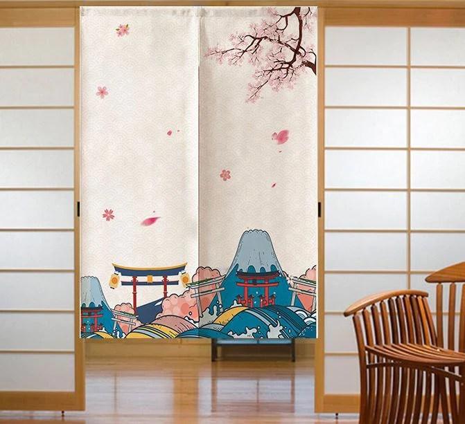 noren japanese curtain 80x120cm