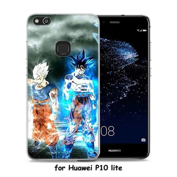 Dragon Ball Z Goku Pattern Transparent Frame Hard Phone Case