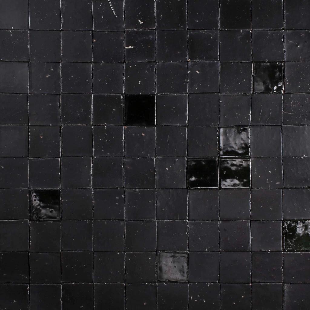 chunky square tile matt and gloss black