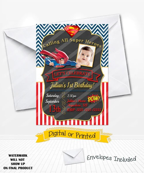 invitations tagged superman