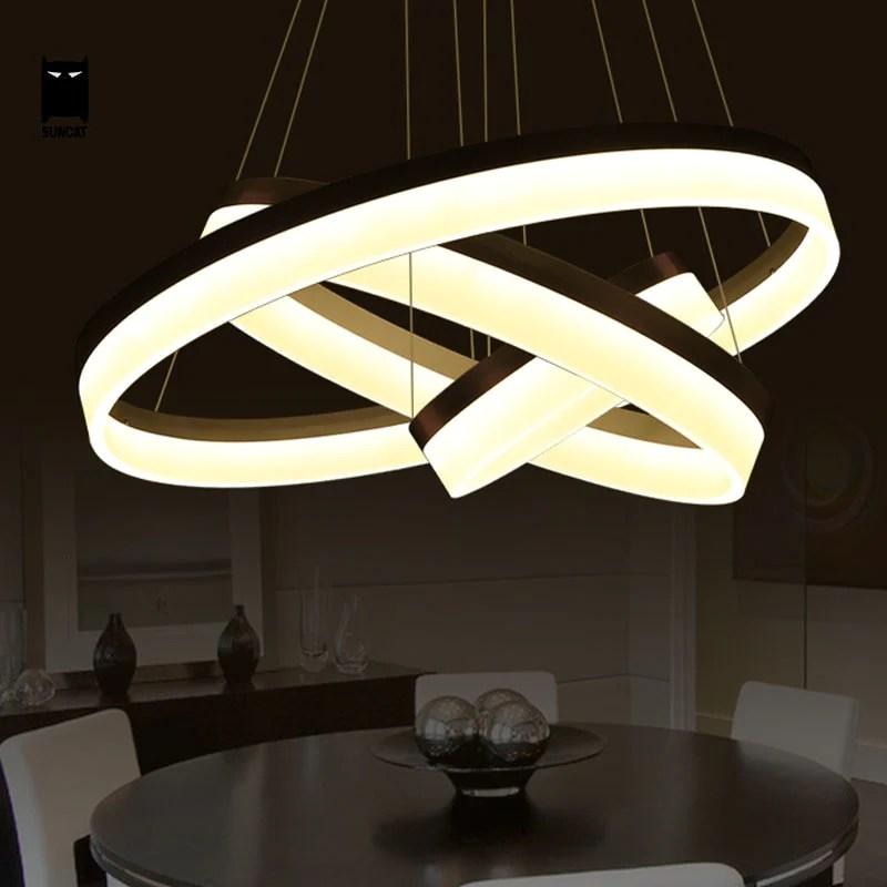 3 Ring Art Deco Nordic Led Chandelier Vintiige Com