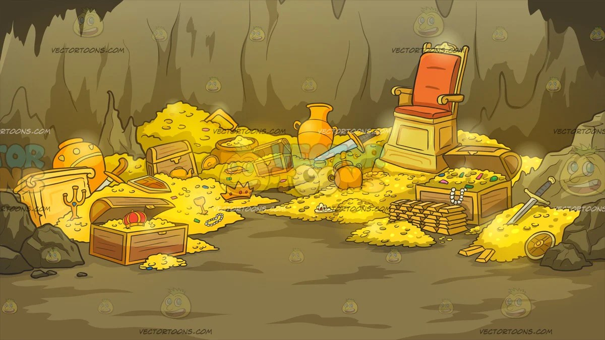 Cartoon Chest Gold And Riches