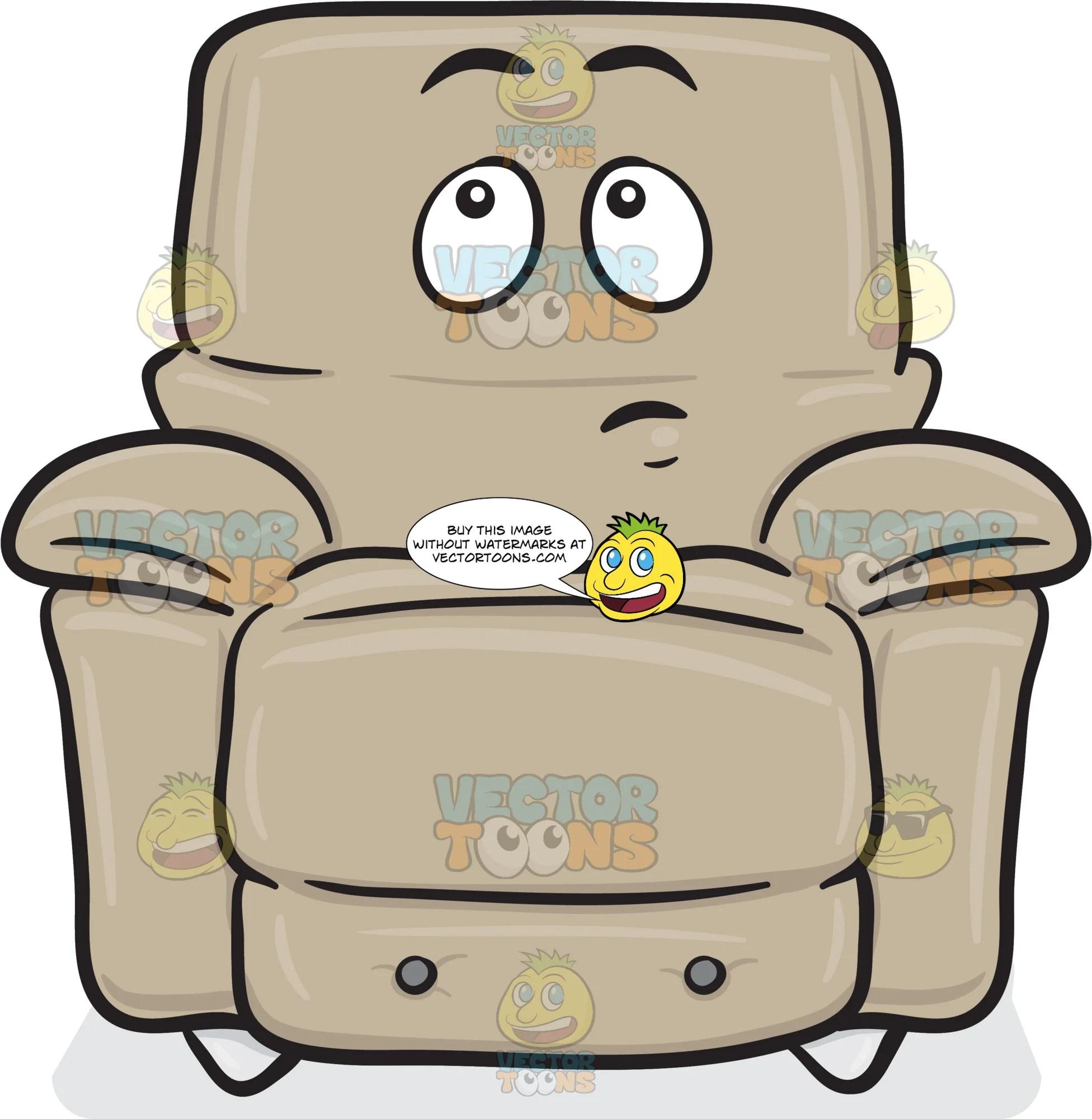 Wondering Look On Stuffed Chair Emoji