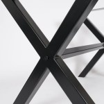The Xx Metal Dining Table Base Legs Industrial Farmhouse Style Tilia