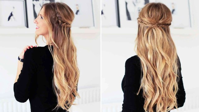 holiday half updo hairstyle – luxy hair
