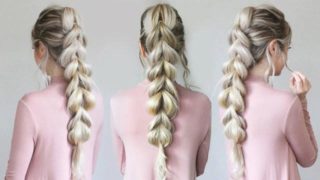 pull-through braid: how to do an easy braid hairstyle