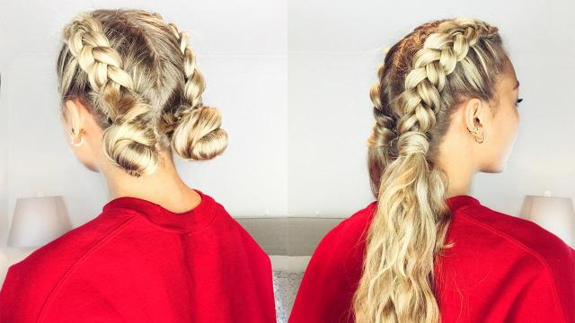 how to deal with thick hair: 3 easy hairstyles – luxy hair