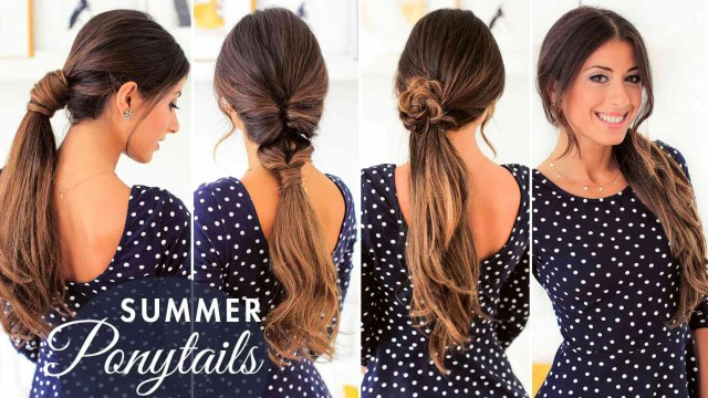 ponytail hairstyles: cute summer ponytails – luxy hair