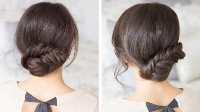 fishtail updo – luxy hair