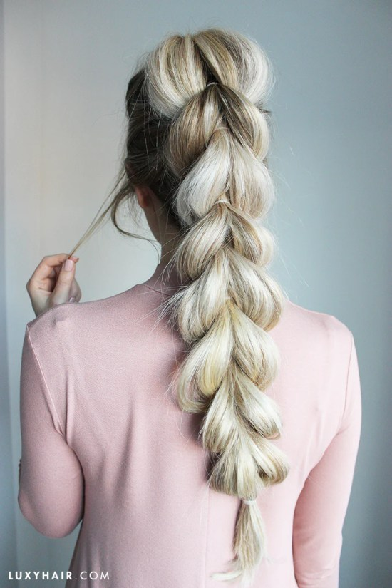 how to do a pull through braid