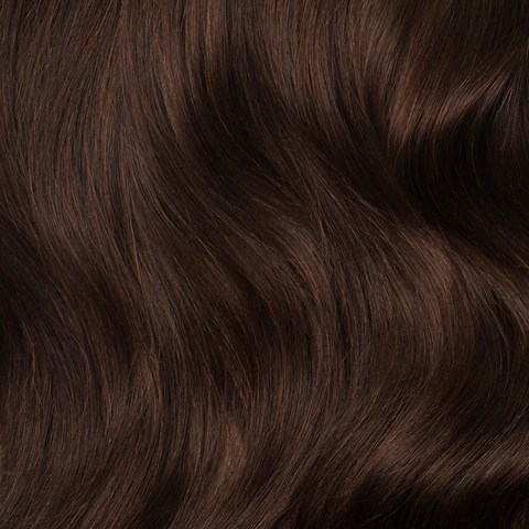 Clip In Hair Extensions Chocolate Brown Color 4 120