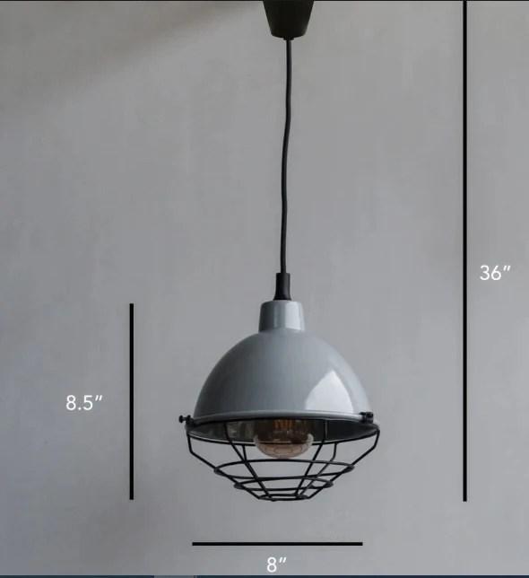 retro modern grey pendant industrial lighting fixture radical illumination