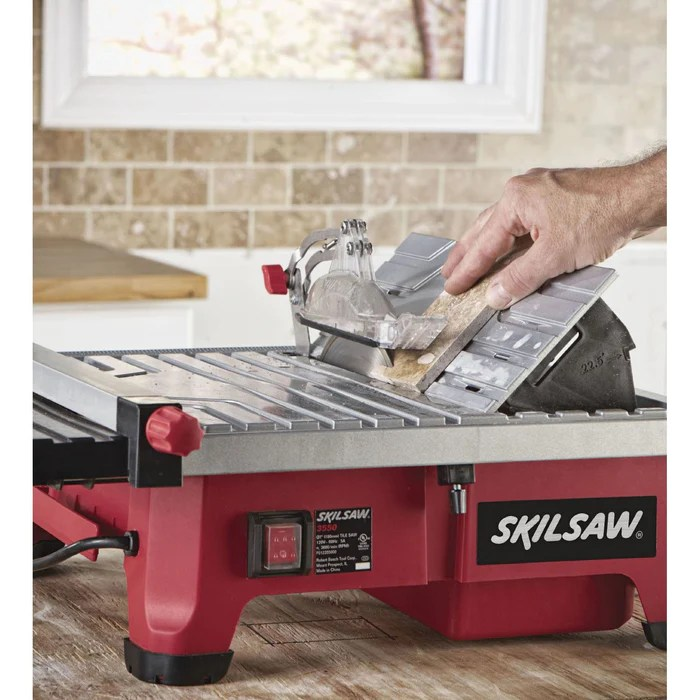 skil 3550 02 7 inch adjustable rip fence miter guage wet tile saw table