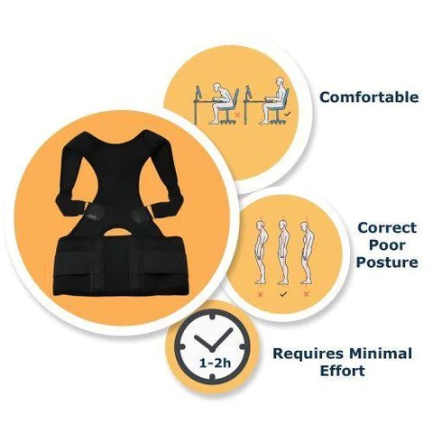 Magnetic Posture Corrective Therapy Back Brace For Men & Women Feature