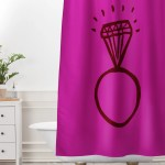 Diamond Bling Shower Curtain And Mat Leah Flores