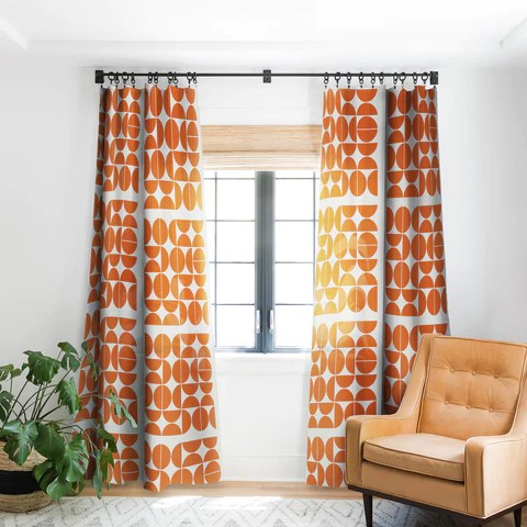 mid century modern 04 orange sheer