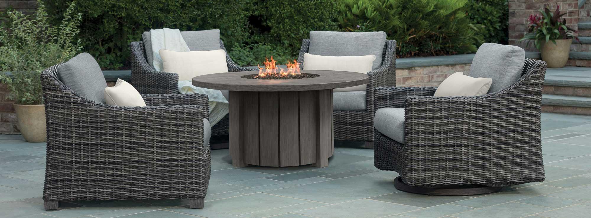 avallon patio fire pit set