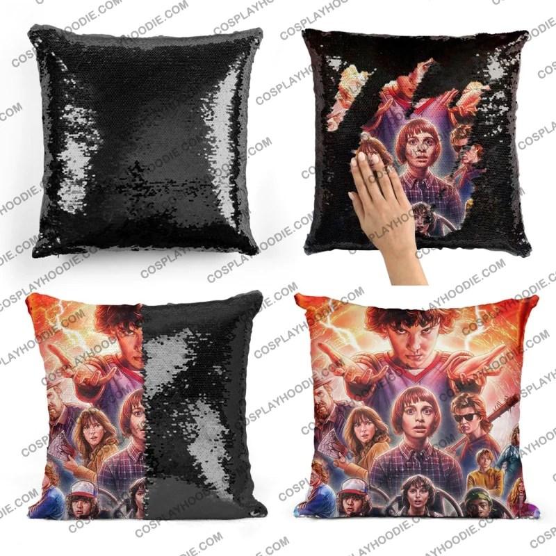 stranger things sequin pillow s4