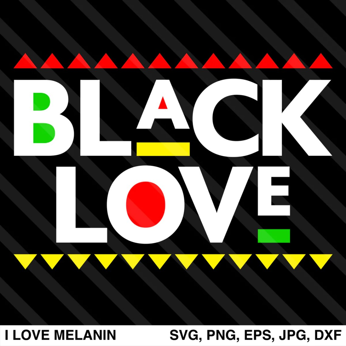 Download Black Love SVG - I Love Melanin