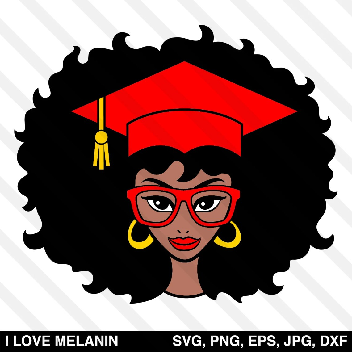 Download Graduation Black Woman SVG - I Love Melanin