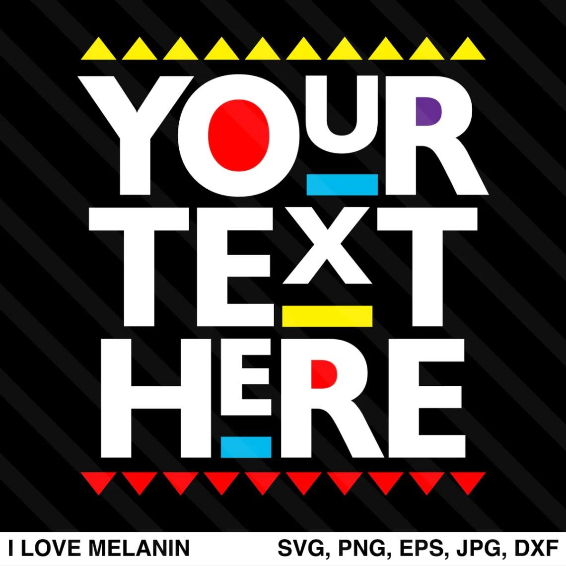 Download Martin Font Custom Design SVG - I Love Melanin