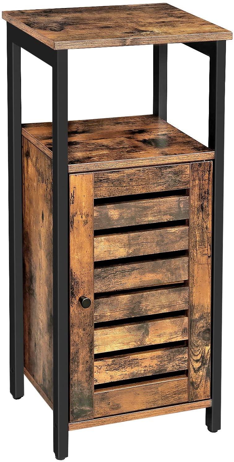 placard colonne meuble de rangement style industriel marron et noir 12 0000809