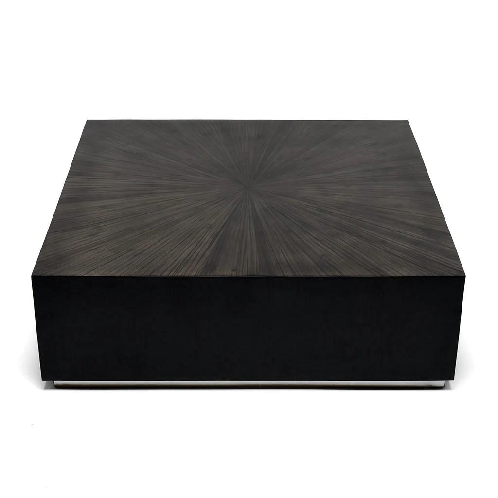 monoblock coffee table square grey