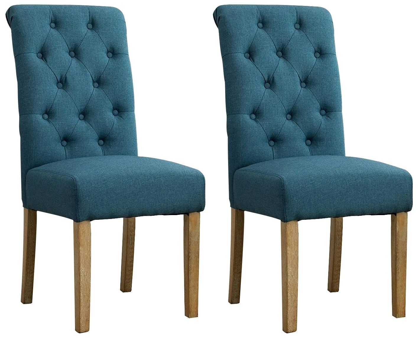 Solid Wood Tufted Parsons Dining Chair Set Of 2