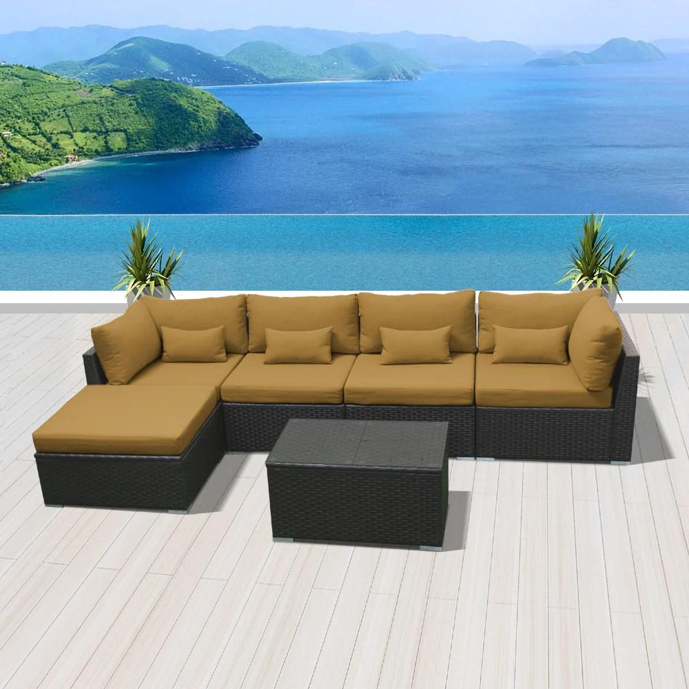 6h modern wicker patio furniture sofa set