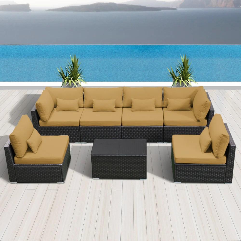 7g modern wicker patio furniture sofa set