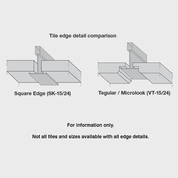 budget usg radar ceiling tile box