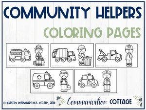 Community Helpers Coloring Pages Communication Cottage Llc