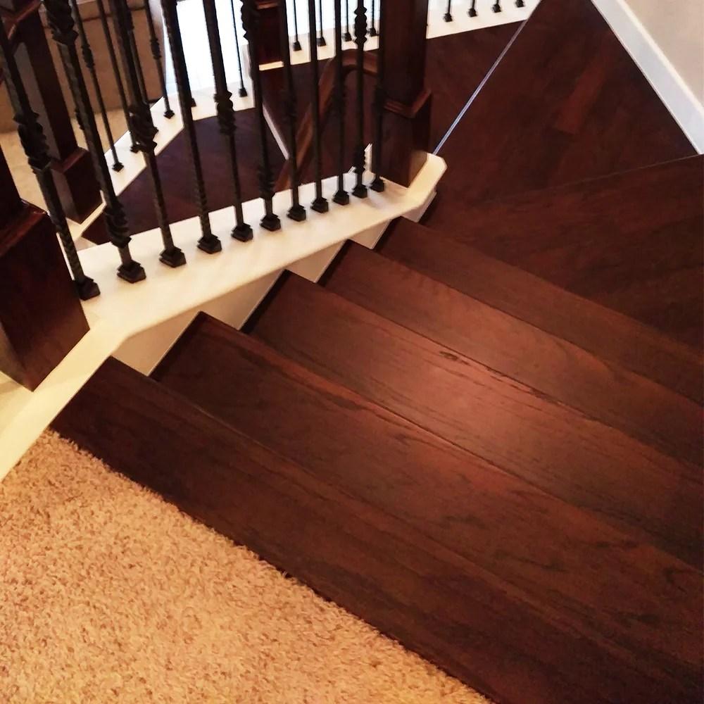 3 1 2 Hardwood Landing Tread Nosing Affordable Stair Parts | 48 Inch Red Oak Stair Treads | Wood Stair | Stair Nosing | Solid Oak | Stair Riser Kit | Bull Nose