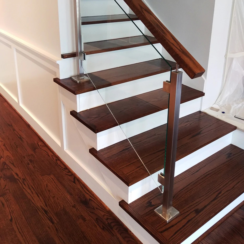 Engineered Paint Grade Mdf Stair Riser Affordable Stair Parts | Wood And Painted Stairs | Diy | Before And After | Striped | Refinish | Oak