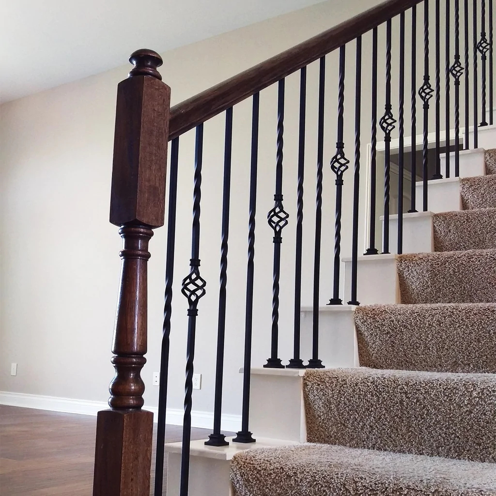 Single Basket Wrought Iron Baluster Affordable Stair Parts | Wrought Iron Banister Spindles | Metal | Wooden | Double Basket | Cast Iron | Type