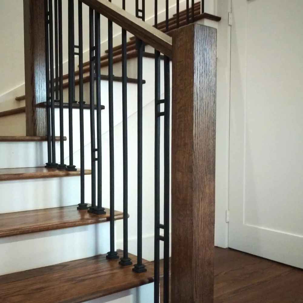 4000 Contemporary Blank Newel Post Affordable Stair Parts   Square Newel Post Designs   Iron   3 Inch   Victorian Oak Newel   Modern Square   Stair Newel
