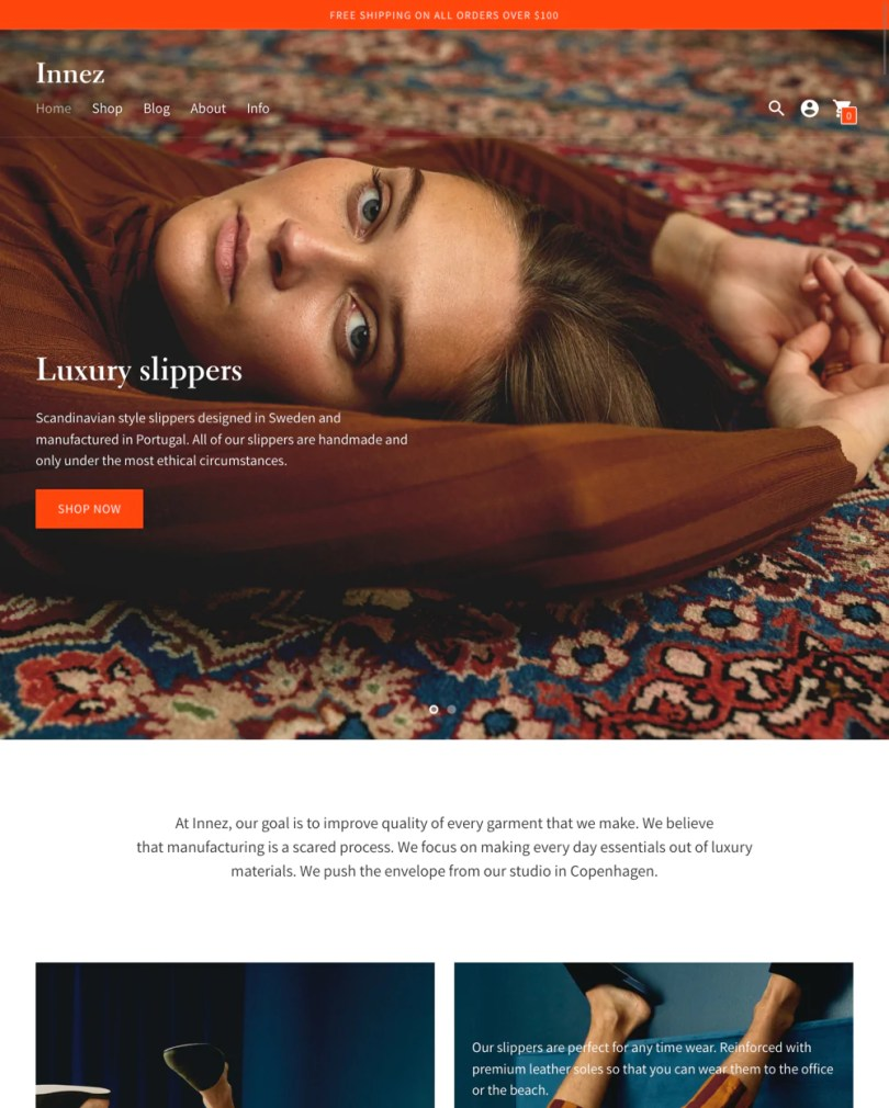 Context Shopify theme.
