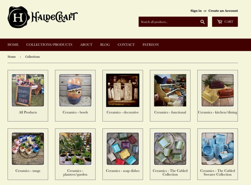 HaldeCraft moved its main storefront from Etsy to Shopify in order to scale.