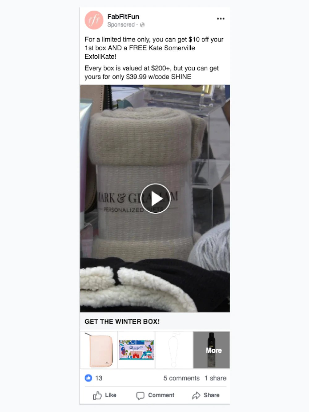 Advertising multiple products on Facebook.