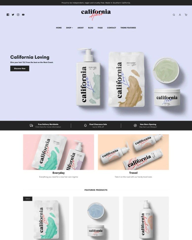 Envy Shopify theme.