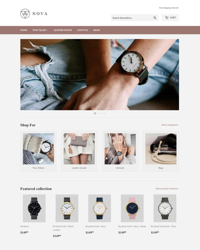 Supple Shopify theme.