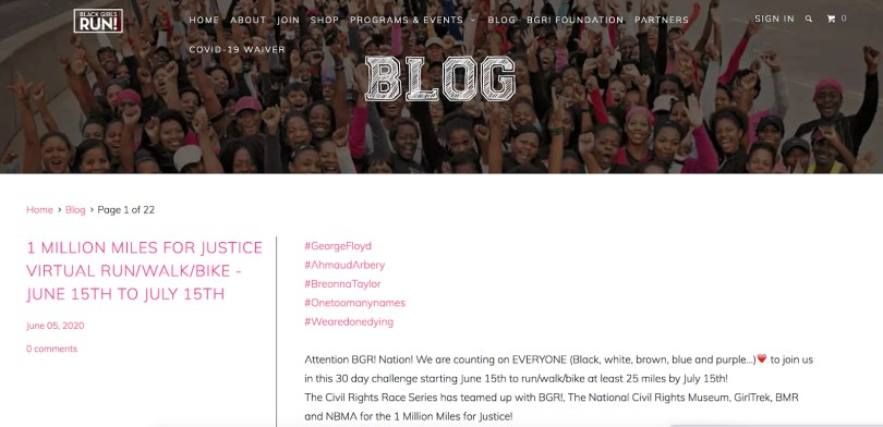 Black Girls Run blog