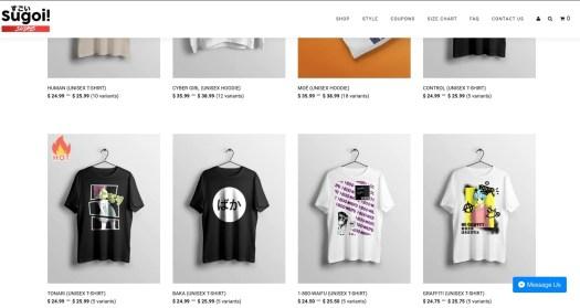 sugoi shirts t-shirt store