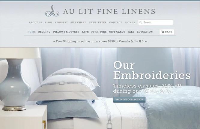 Au Lit Fine Linens