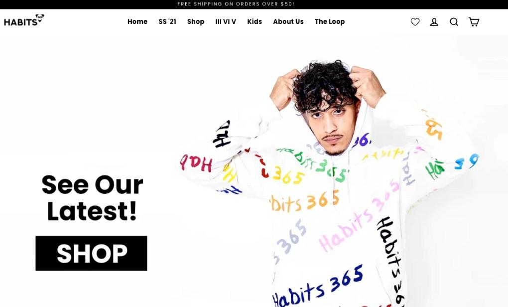 Habits-365-online-store-cover-image-model-wearing-hoodie