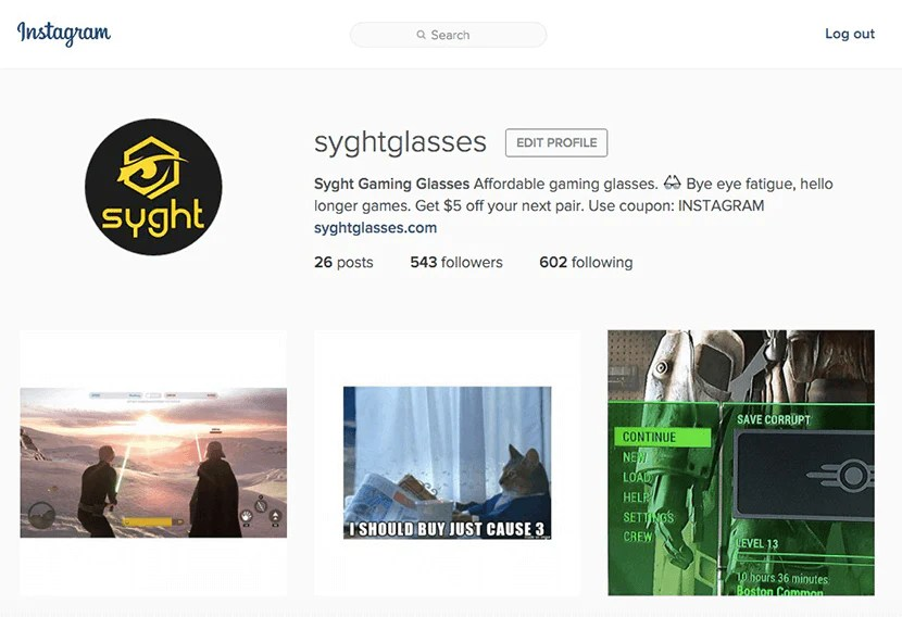 Syght Glasses Instagram