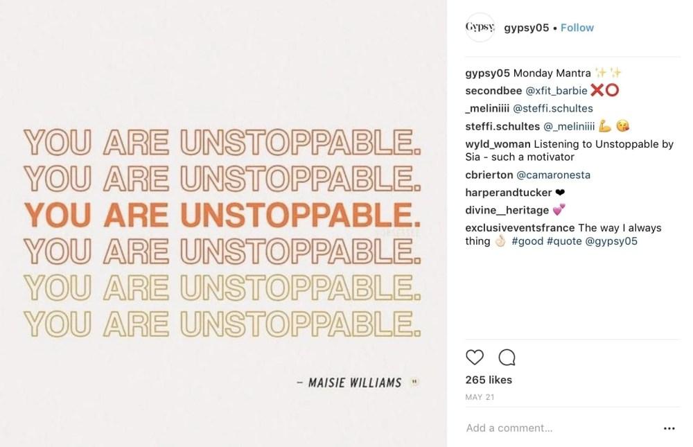 instagram quote post idea