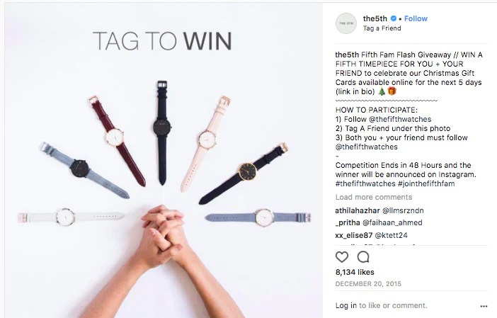 grow your Instagram account with an giveaway contest