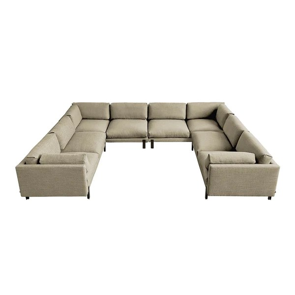 silverlake u shaped sectional sofas sleepers gus modern